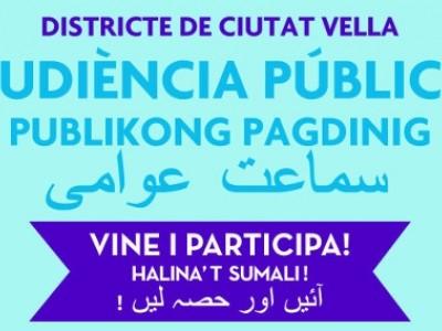 Audiència Pública Districte de Ciutat Vella