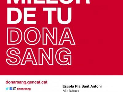 Donació de sang a l'Escola Pía Sant Antoni