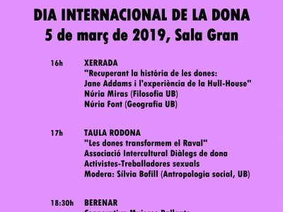Xerrades a la UB amb motiu del Dia Internacional de la Dona