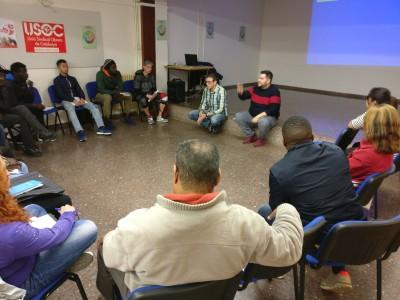 La Xarxa Laboral del Raval impulsa formacions per a persones en situació irregular