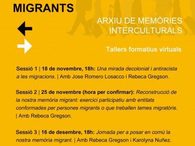 'Històries i memòries migrants. Arxiu de memòries interculturals' (ON LINE)
