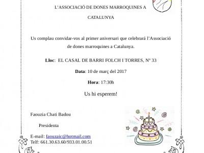 1r Aniversari Ass. Dones Marroquines a Catalunya