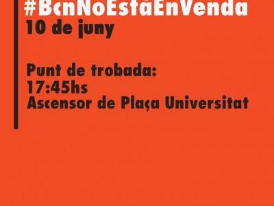 Manifestació #BcnNoEstàEnVenda