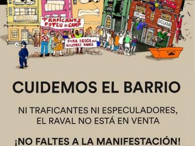 Manifestació 'Cuidemos el barrio'